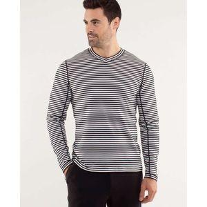 Lululemon | Classic Stripe Speed Running Shirt
